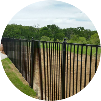 dallas fence company - metal fencing